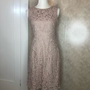 Adrianna Papell nude and blush dress size 6